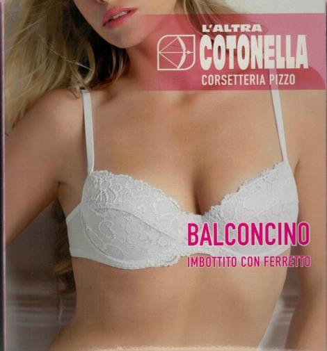 2a79bf3824f2 BALCONCINO COTONELLA CD020 VERA · Corsetteria, Reggiseni. Descrizione  tecnica:balconcino pizzo imbottito con ferretto.